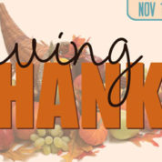 Giving Thanks – November 12, 2016